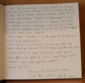Libro de visitas Francisco José Llambrich