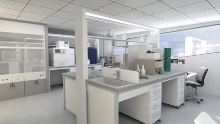 Instituto de investigación render laboratorio tipo